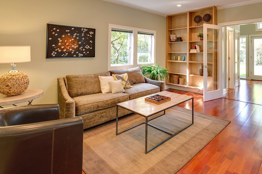 warm living room ideas in bright house