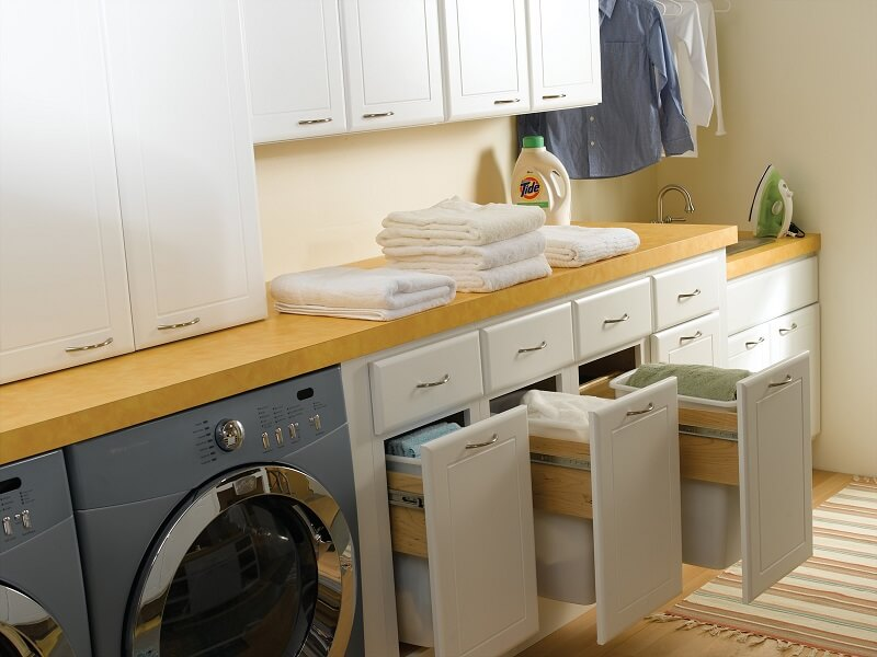 Storage space for a washing room